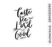 Psalm Scripture Lettering....