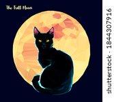 Cat Full Moon  Low Poly