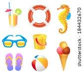beach set 2 | Shutterstock .eps vector #184432670