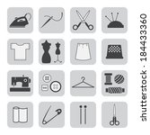 sewing and needlework icons | Shutterstock .eps vector #184433360