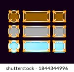 set of gui wooden  stone  ice...