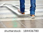 man taking the step in the...   Shutterstock . vector #184436780