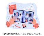 female photographer hands... | Shutterstock .eps vector #1844387176
