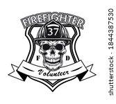 firefighter volunteer badge... | Shutterstock .eps vector #1844387530