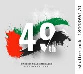 49th national day text with uae ... | Shutterstock .eps vector #1844396170