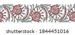seamless vector flower border... | Shutterstock .eps vector #1844451016