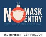 no mask no christmas. merry... | Shutterstock .eps vector #1844451709