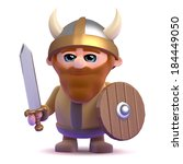 3d Render Of A Noble Viking