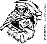 the grim reaper use the big... | Shutterstock .eps vector #1844496430