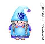 Cute Scandinavian Gnome  Girl ...
