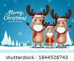 merry christmas and happy new... | Shutterstock .eps vector #1844528743
