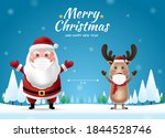 social distancing with santa... | Shutterstock .eps vector #1844528746