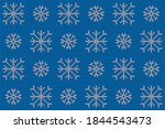 knitted nordic ornament with... | Shutterstock .eps vector #1844543473