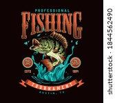 fishing vintage colorful label... | Shutterstock .eps vector #1844562490