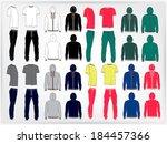 set of men's sport clothes  zip ... | Shutterstock .eps vector #184457366
