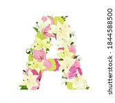 graceful floral abc with white... | Shutterstock .eps vector #1844588500