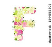 graceful floral abc with white... | Shutterstock .eps vector #1844588506