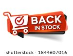 back in stock  red banner with...   Shutterstock .eps vector #1844607016