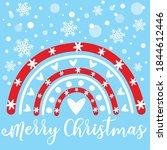 merry christmas vector design ...   Shutterstock .eps vector #1844612446