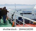 Strait Of Messina  Italy  Apri...