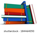stack of colored books on white ... | Shutterstock . vector #184464050