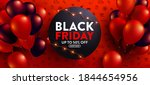 black friday sale poster with... | Shutterstock .eps vector #1844654956
