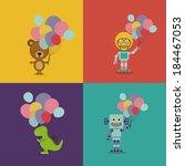 birthday party design over... | Shutterstock .eps vector #184467053