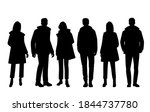 set of silhouettes of men and... | Shutterstock .eps vector #1844737780