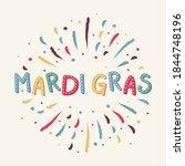 carnival   mardi gras card... | Shutterstock .eps vector #1844748196