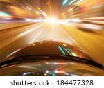 car on the road with motion... | Shutterstock . vector #184477328