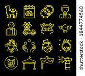 Bird Genus 16 Lineal Icon Set...