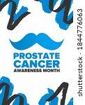 prostate cancer awareness month ... | Shutterstock .eps vector #1844776063