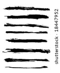 a set of grunge vector brush... | Shutterstock .eps vector #18447952