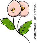 unusual flower  illustration ... | Shutterstock .eps vector #1844795923
