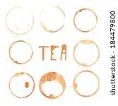 illustration of tea stains. | Shutterstock .eps vector #184479800