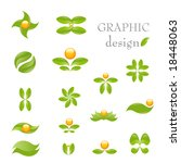 nature  vector icon set... | Shutterstock .eps vector #18448063