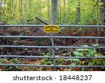 No Trespassing Sign On Gate