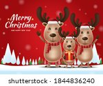merry christmas and happy new...   Shutterstock .eps vector #1844836240