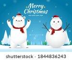 social distancing with polar...   Shutterstock .eps vector #1844836243