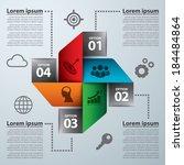 modern banner infographic.... | Shutterstock .eps vector #184484864