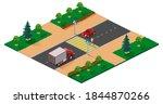 pedestrian crossing road...   Shutterstock .eps vector #1844870266