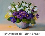 Oil Oil Painting Flowers  ...