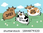 happy new year 2021 greeting...   Shutterstock .eps vector #1844879320