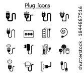 plug  usb  cable  socket  port...   Shutterstock .eps vector #1844887516