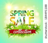 spring sale collection. vector... | Shutterstock .eps vector #184491188