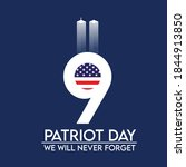 patriot day  we will never...   Shutterstock .eps vector #1844913850