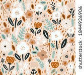 seamless floral pattern with... | Shutterstock .eps vector #1844926906