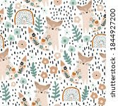 seamless pattern with cute... | Shutterstock .eps vector #1844927200