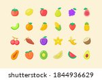 fruit icon set collection...   Shutterstock .eps vector #1844936629