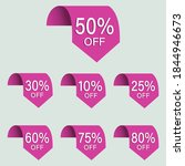 set of sales tags set of icons  ...   Shutterstock .eps vector #1844946673